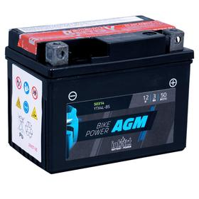 Аккумулятор intAct IA YTX4L-BS, AGM, 12В, 3Ач, пуск ток 50А, обратная (- +) Ош
