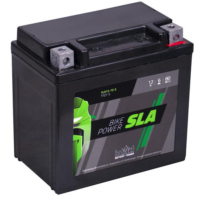 Аккумулятор intAct IS YTZ7-S, SLA, 12В, 6Ач, пуск ток 80 А, обратная (- +)