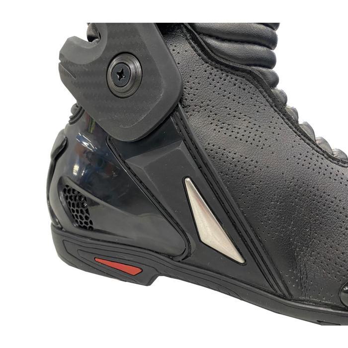 Мотоботы спортивные, унисекс MOTEQ R8 перфорация, размер 44, цвет черный