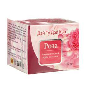 Крем для лица аюрведический Дэй Ту Дэй Кэр роза, увлажняющий, 50 г