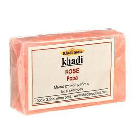 Мыло ручной работы Khadi роза, 100 г