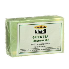 Мыло ручной работы Khadi зелёный чай, 100 г