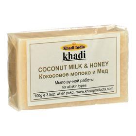 Мыло ручной работы Khadi кокосовое молоко и мёд, 100 г