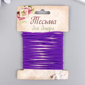 """Тесьма декоративная резинка """"Фиолетовая круглая"""" намотка 4 м ширина 0,2 см"""