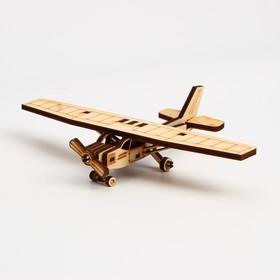Деревянный конструктор. Cборная модель «Спортивный самолёт» 18 деталей