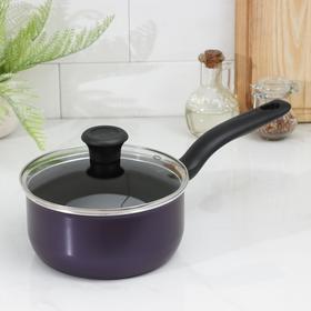 Кастрюля Cook Right Cаs, 2 л, антипригарное покрытие, цвет фиолетовый