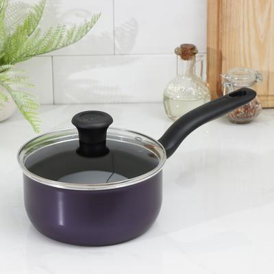Кастрюля Cook Right Cаs, 2 л, антипригарное покрытие, цвет фиолетовый - Фото 1