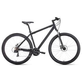 """Велосипед 29"""" Forward Sporting 2.1 disc, цвет черный матовый/черный, размер 17"""""""