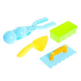 Набор для игры со снегом «Снежколеп и кирпичик», 4 предмета, цвета МИКС