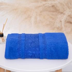 Полотенце махровое Бодринг 30х60 см, 04-040 синий, хлопок 100%, 430г/м2