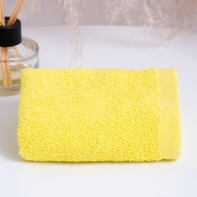 Полотенце махровое ГК 30х50 см, 02-006, желтый, хлопок 100%, 360г/м2
