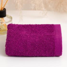 Полотенце махровое ГК 30х50 см, 03-057, фиолетовый, хлопок 100%, 360г/м2