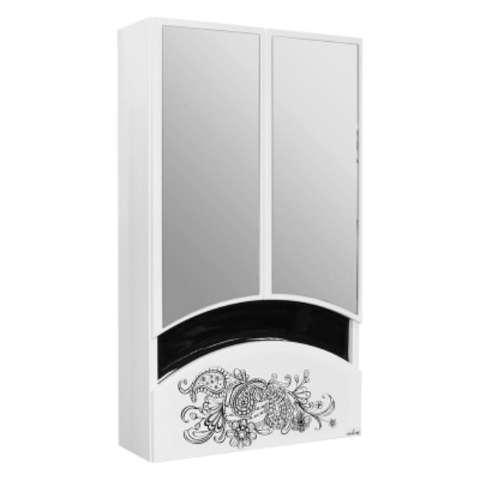 """Зеркало-шкаф """"MIXLINE Радуга-46"""" с рисунком цветы 22х46х80см"""
