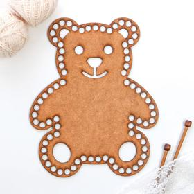 """Заготовка для вязания """"Медведь"""" 24х30 см"""