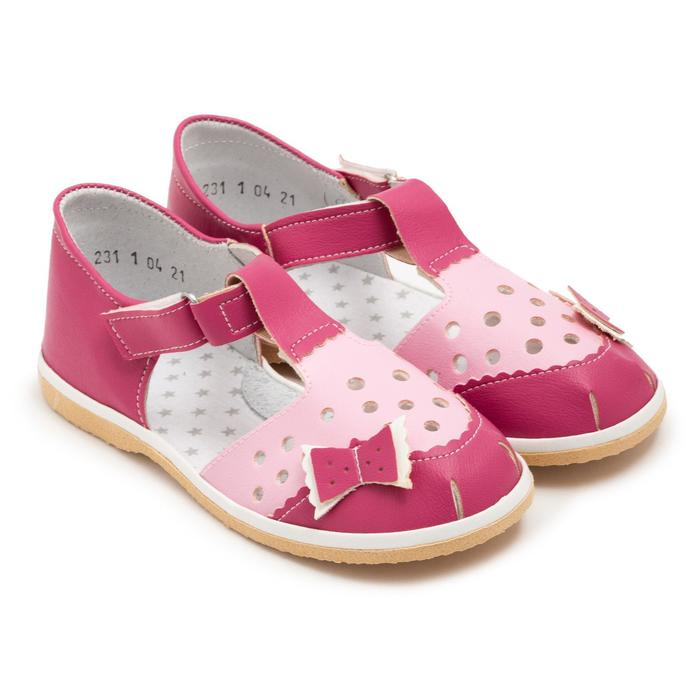 Cандалии детские, цвет малиновый/розовый, размер 31,5