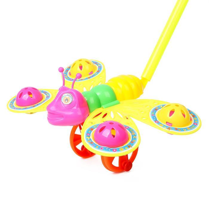 Каталка на палочке Бабочка, цвета МИКС