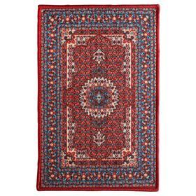Придверный коврик СКИВХОЛЬМЕ, 40х60 см, цвет красный/синий