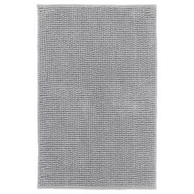 Коврик для ванной ТОФТБУ, 50x80 см, цвет серо-белый меланж