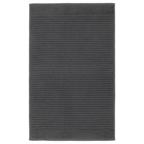 Коврик для ванной АЛЬСТЕРН, 50x80 см, цвет тёмно-серый