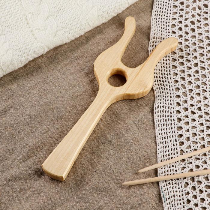 Вилка для вязания, 25х8х1 см, массив сосны
