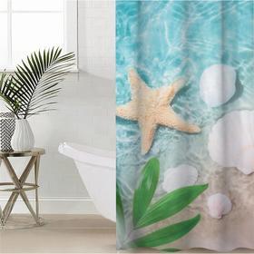 Штора для ванной комнаты «Лазурная мечта», 145×180 см, оксфорд