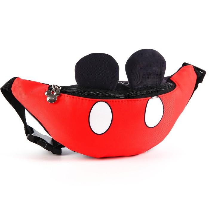 купить Сумка поясная текстильная Mickey Mouse Микки Маус