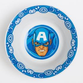 """Салатник керамический детский """"Капитан Америка"""", Мстители, 360 мл, 140мм"""