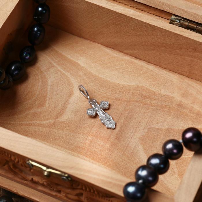 Крест нательный 3, цвет серебристый, алюминий, 10х32 мм