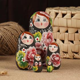"""Матрёшка 5-ти кукольная """"Карина"""" акрил,  10-11 см, ручная роспись"""