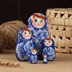 """Матрёшка 5-ти кукольная """"Марьяна"""" акрил, 10-11 см, ручная роспись"""