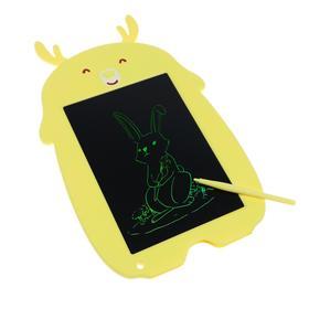 Планшет для рисования и заметок LuazON 'Олененок', 8.5', функция блокировки, желтый Ош