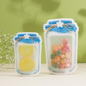 Набор пакетов для хранения продуктов «Домашнее тепло», 2 шт, 10×15,5 см, 12,5×19,5 см, цвет МИКС