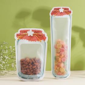 Набор пакетов для хранения продуктов «Домашнее тепло», 2 шт, 14×25,5 см, 10×31,5 см, цвет МИКС