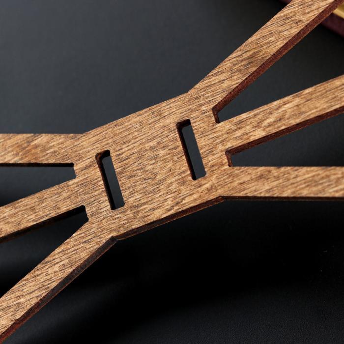 """Бабочка деревянная """"Геометрия"""", 13х5,0.3 см, светлая"""