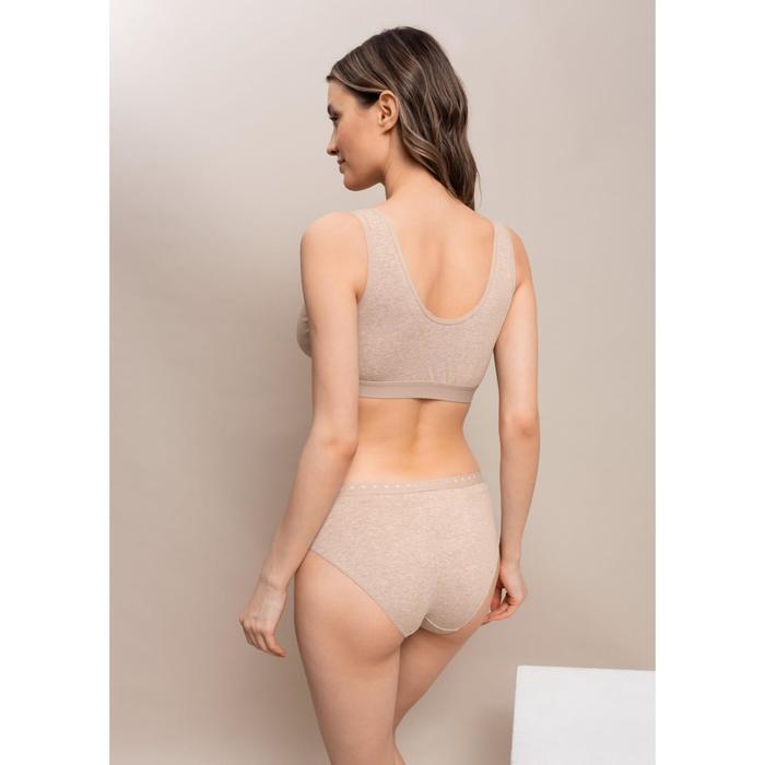 Комплект белья для беременных «Гвинет», размер S, цвет бежевый меланж
