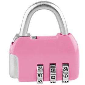 Замок навесной кодовый CL506 розовый