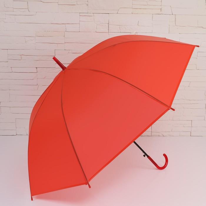 Зонт - трость полуавтоматический «Однотонный», 8 спиц, R = 46 см, цвет МИКС