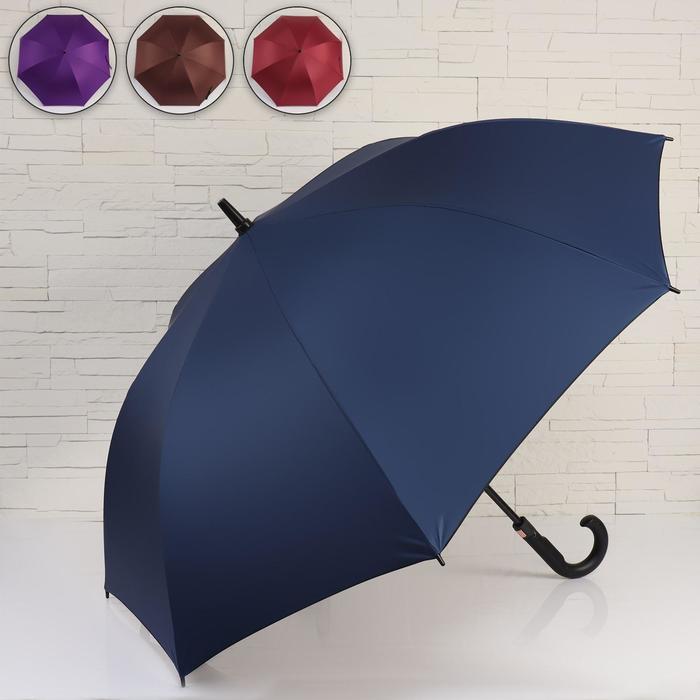 Зонт - трость полуавтоматический «Bruce», 8 спиц, R = 60 см, цвет МИКС