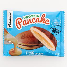 Панкейк Bombbar неглазированный с начинкой «Молочный крем», 40 г