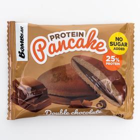 Панкейк Bombbar неглазированный с начинкой «Двойной шоколад», 40 г