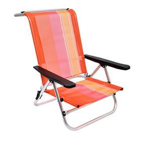 Кресло BOYSCOUT ORANGE, на низких ножках, 5 положений,  алюминиевый каркас, 79x62x75 см