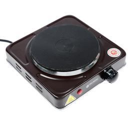 Плитка электрическая GELBERK GL-105, 1000 Вт,  8x27x23 см, коричневая