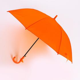 Зонт детский полуавтоматический d=90 см, цвет оранжевый Ош