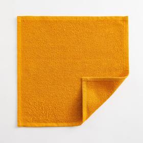 Полотенце махровое Экономь и Я 30х30 см, цв. горчичный, 100% хл, 260 гр/м2