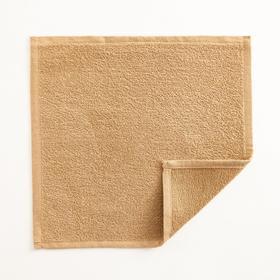 Полотенце махровое Экономь и Я 30х30 см, цв. карамельный, 100% хл, 260 гр/м2 Ош