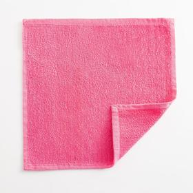Полотенце махровое Экономь и Я 30х30 см, цв.розовый фламинго,100% хл,260 гр/м2 Ош