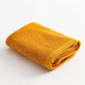 Полотенце махровое Экономь и Я 50х80 см, цв. горчичный, 100% хл, 260 гр/м2