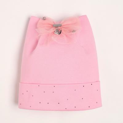 Шапка для девочки «Россыпь», цвет тёмно-розовый, размер 54-56 (6-8 лет) - Фото 1