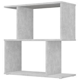 Стеллаж Polini Home Smart фигурный, 2 секции, цвет бетон Ош