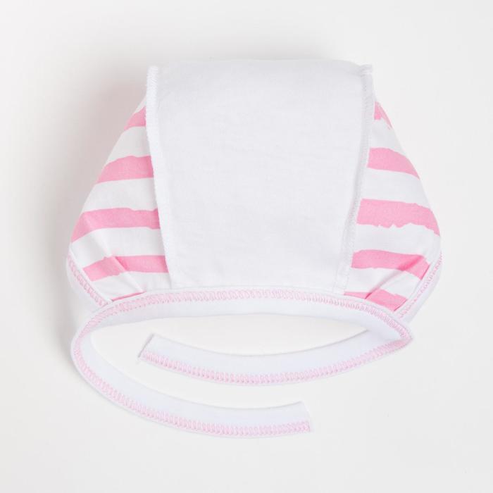 Чепчик детский, цвет розовый/микс, рост 56 см